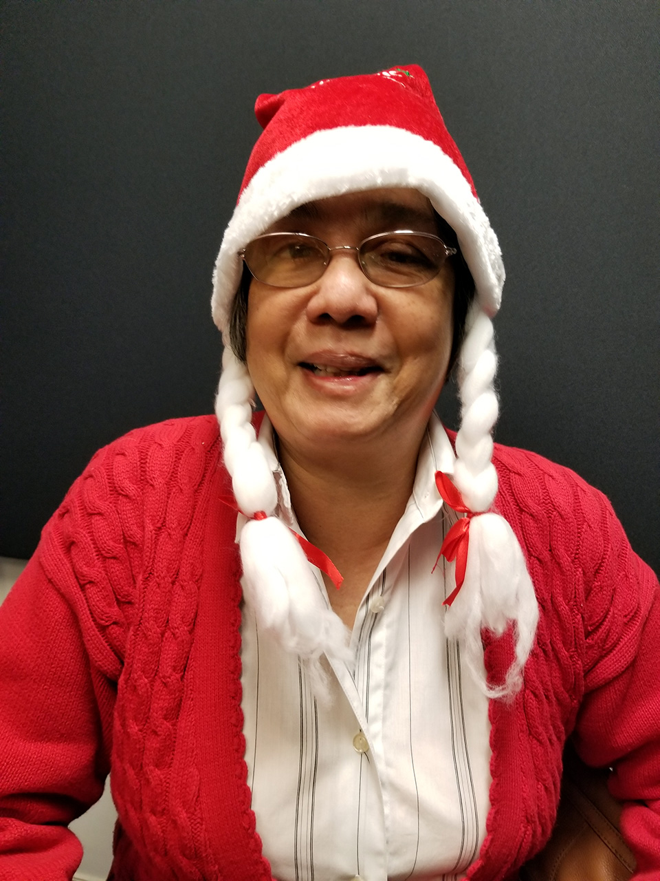 Photo of Author Donna Jodhan as Mrs. Claus.