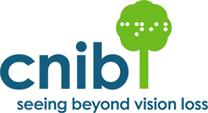 Canadian National Institute for the Blind (CNIB) logo.