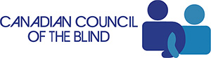 The Canadian Council of the Blind (CCB) logo.
